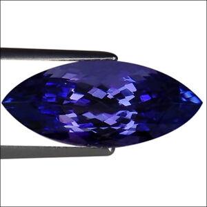 5-32-Ct-IGI-Certified-AAA-Natural-D-Block-Tanzanite-Blue-Violet-Marquise-Cut