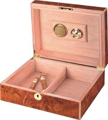 classic wooden cigar humidor box - 207