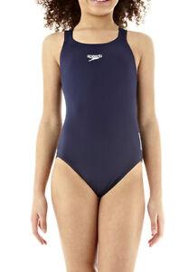 Speedo Girls Swimsuitnew Medalist Navy Blue Swimming