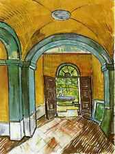 The Entrance Hall Of Saint Paul Hospital 1889 A4 Print
