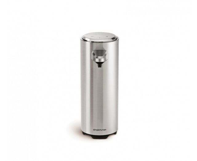 simplehuman rechargeable touchless sensor soap pump, brushed nickel - 8 fl. oz.