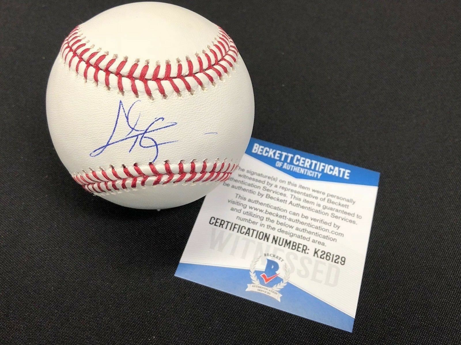 Chris Talyor Signed Major League Baseball MLB *Dodgers BAS Beckett K26129