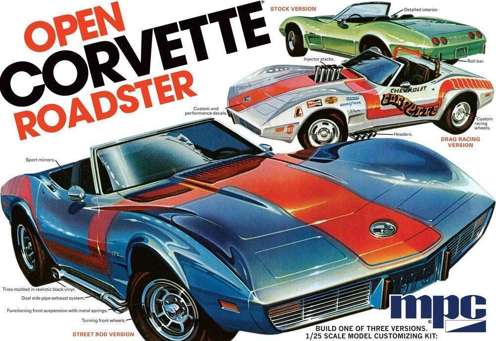 {MPC842} MPC Air Fix Type Plastic modelllllerler Kit 1975 Chevy Corvette Kongrönible 1 25
