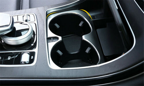 Water Cup Holder Decoration Cover Trim For Mercedes Benz C Class W205 2014-2015