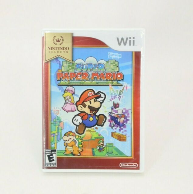 Super Paper Mario Nintendo Wii Nintendo Selects NEW