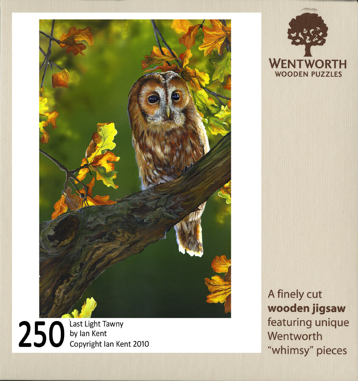 LAST LIGHT TAWNY (250 piece) WOODEN JIGSAW PUZZLE by Wentworth NEW