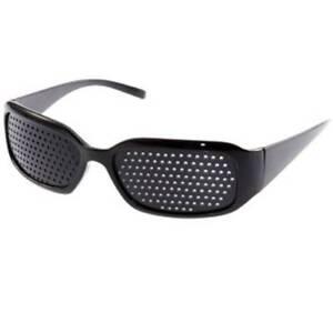 Black-Unisex-Vision-Care-Pin-hole-Eyeglasses-Pinhole-Glasses-Eyesight-Improves
