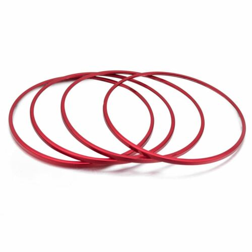 4x Red Interior Door Speaker Decor Ring Cover For Mercedes W205 C300 C350 GLC250