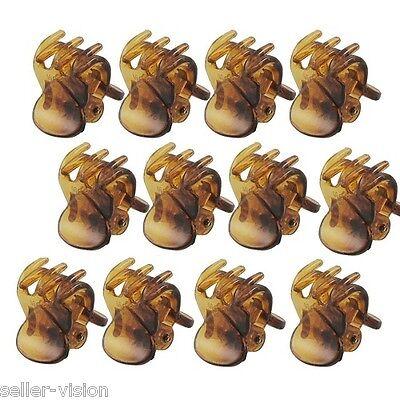 12 X Mini Plastica Capelli Artiglio Morsetti Bulldog Fermagli Stile Moda