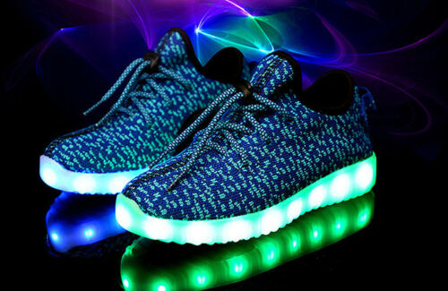 Kid Child LED Light Up Casual Shoes Boys Girls Luminous Laces USB Sport Sneakers