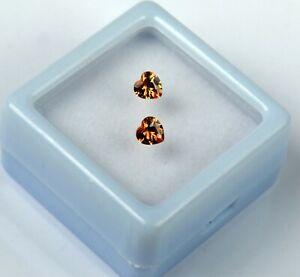 Valentine's Brown Sapphire Gems Heart Pair 0.70 Ct/3 mm Natural Certified GP34