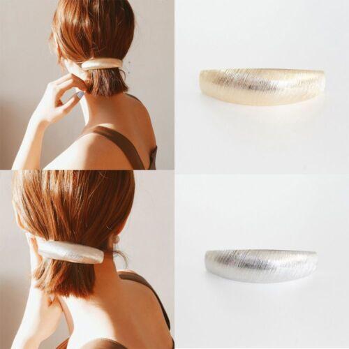 Femmes élégant Cheveux Accessoires Filles Argent Or Chic Métal Pince à Cheveux Hairband