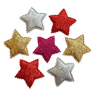 6pcs-Glitter-Padded-Star-Craft-Embellishments-Scrapbooking-Cardmaking-Accessory