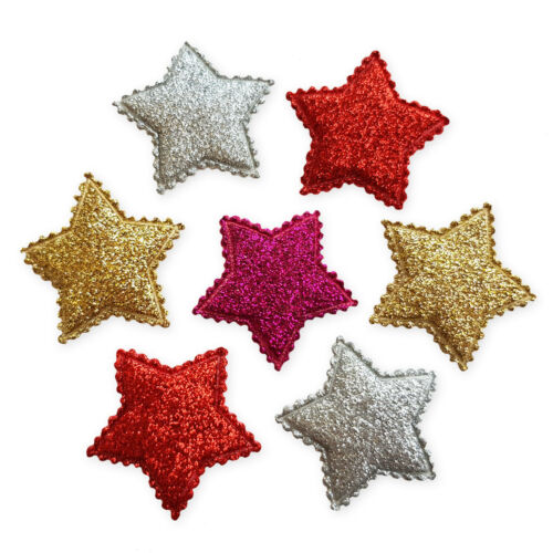 Brillo Acolchado Star Craft Adornos Scrapbooking Cardmaking Accesorio 6 un