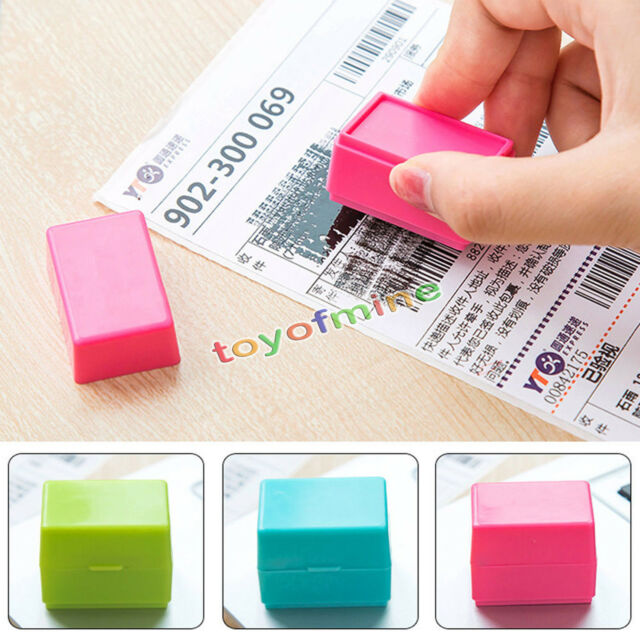 1Pcs Guard Your ID Roller Stamp SelfInking Messy Code Security Office