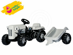 Rolly-Little-Grey-Fergie-Massey-Ferguson-with-Trailer-Classic-Pedal-Tractor