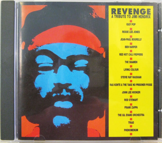 """ Revenge A Tribute To Jimi Hendrix "" CD Mint Frank Zappa Iggy Pop Red Hot Chili"