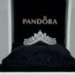 New Authentic Pandora Princess Wish Crown Ring 197736cz Size 5 6 7