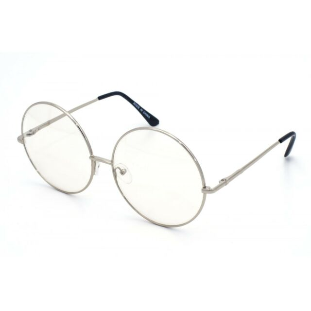252cf0edc5e10 XL Large John Lennon Glasses Round Retro Clear Lenses Gold Frame ...