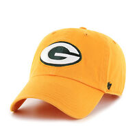 Green Bay Packers 47 Brand Clean Up Hat Adjustable Cap Gold