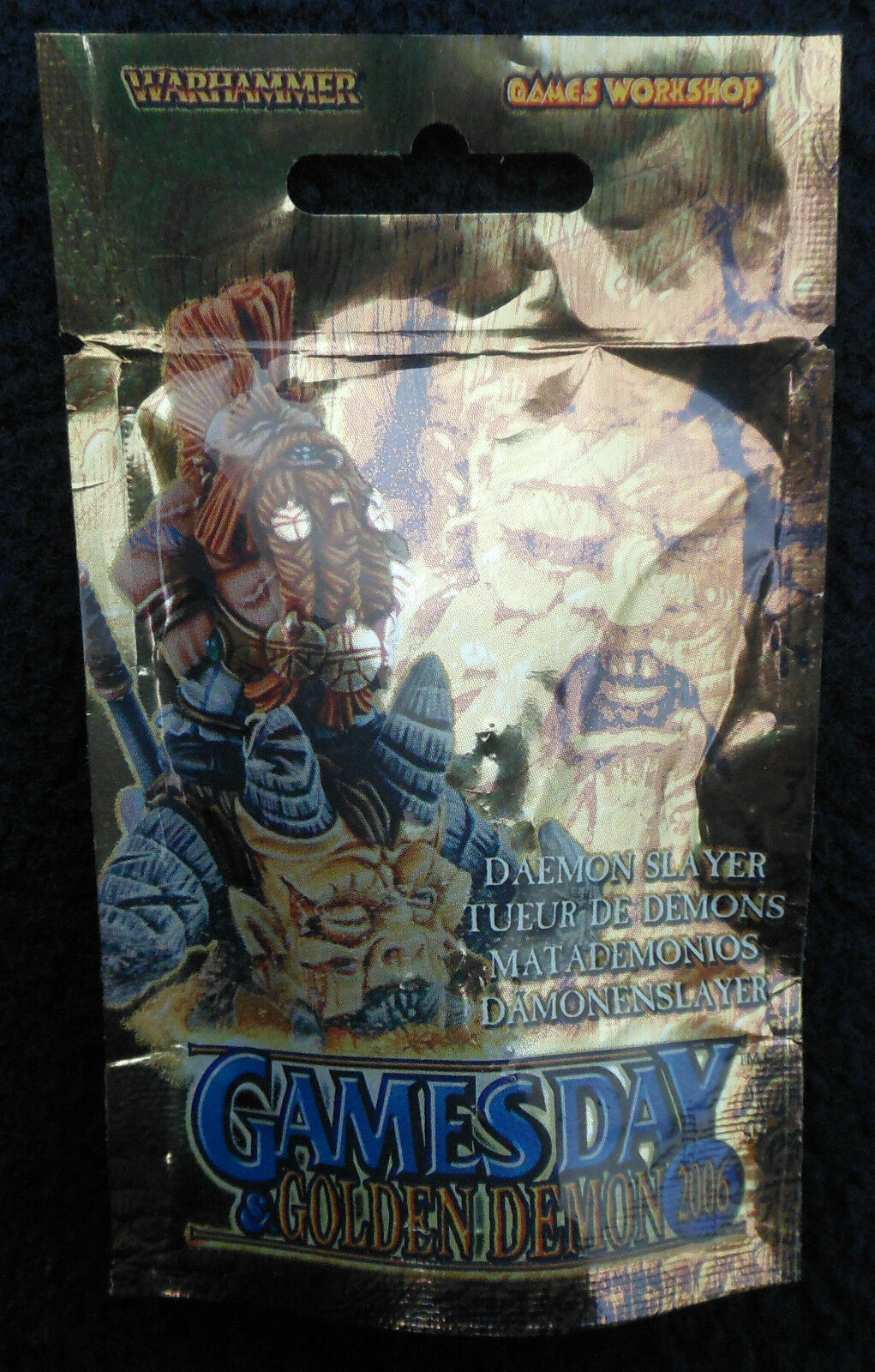 2006 PR24 Limited Games Day golden Demon Daemon Slayer Games Workshop Dwarf MIB
