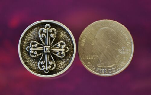 Filigree Cross Sewing Button in Fine Lead Free PewterSET of TWOMade in USA