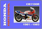 HONDA Parts Manual CB1100 CB1100R 1981 1982 1983 Replacement Spares Catalog List