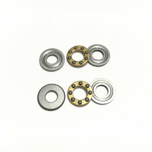 5pcs Axial Ball Thrust Bearing F3-8M 3x8x3.5mm 3-Parts Miniature Plane Bearing
