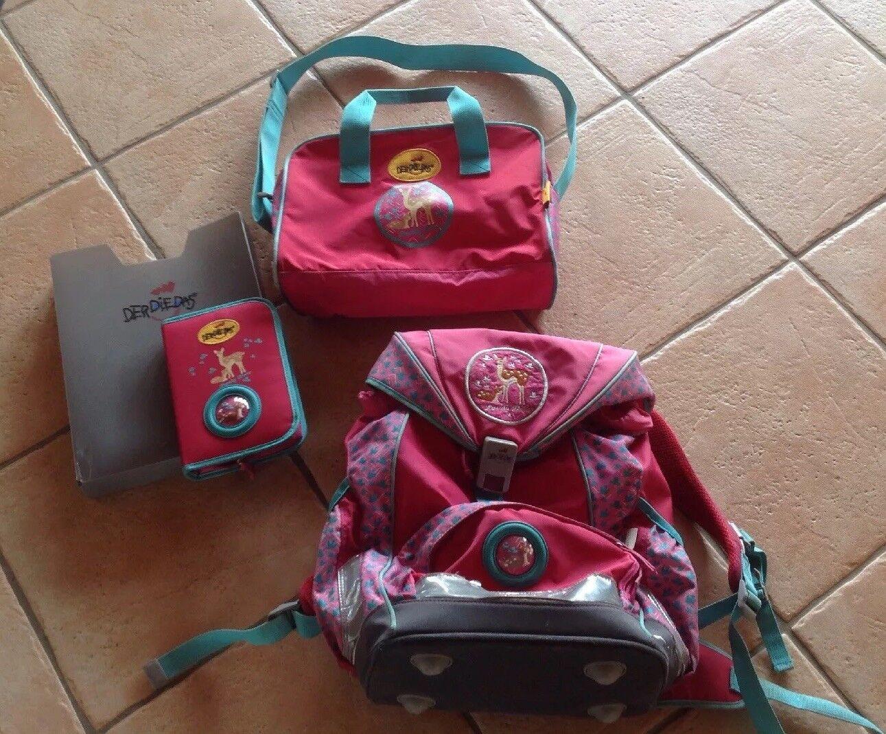 Der Die Das Das Das Schulranzen Lovely Deer Reh Mädchen Rosa Rot Komplett Ranzen | Lebhaft  | Erlesene Materialien  | Überlegene Qualität  3e08e2