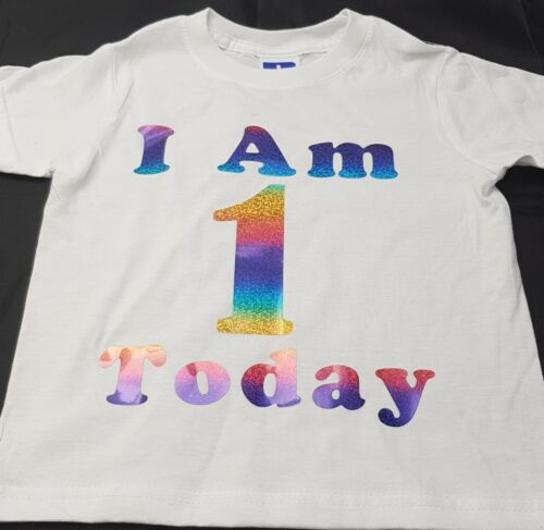 I am ...Today Rainbow Birthday Tshirt ages 2-12yrs Adult S-XXL12345678910