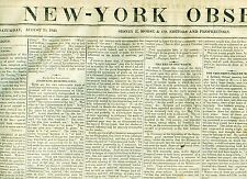 Newspaper TEXAS Mier Capture Col Karnes Seminole War Tea Table Key Florida  1840