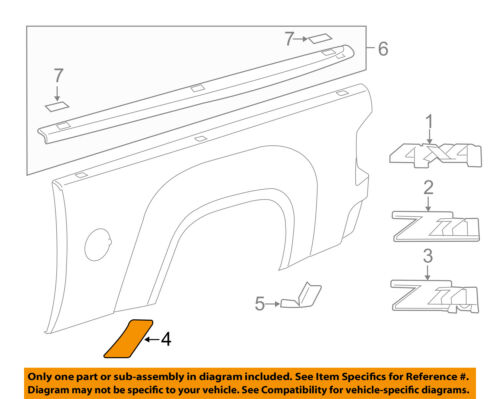 GM OEM Pick Up Box Bed-Stone Deflector Guard Left 15952189