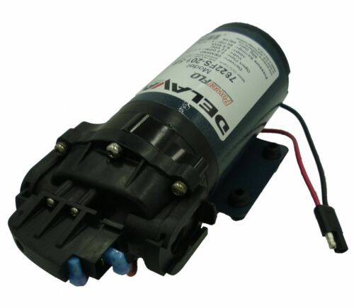 "Delavan 7822FS-201-SB Diaphragm Flex Pump 12 V 2.2 GPM 3//4/"" QA Ports 60 PSI"