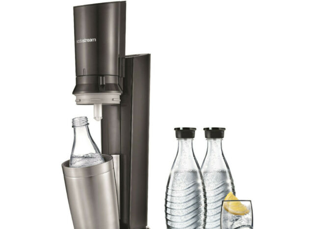 SODASTREAM Crystal 2.0 Wassersprudler Titan/Silber NEU OVP