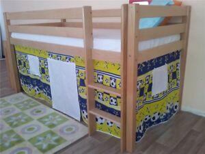 Etagenbett Vorhang Blau : Oliver furniture vorhang set für halbhochbett etagenbett
