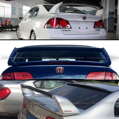 For 06-11 Honda Civic 4DR Sedan Unpainted Mugen Style RR 4Pic Trunk Wing Spoiler