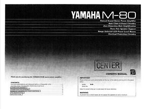 yamaha m 80 amplifier owners manual ebay rh ebay ca M 80 Fireworks Accidents M 80 Schematics