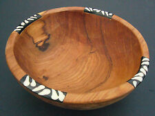 "Small African Olive Wood Ethnic Salad Fruit Bowl - 7""-8"" diam. Fairtrade Craft"