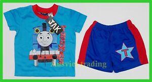 new Thomas The Tank boys Pyjamas sleepwear cotton tshirt top t-shirt pajamas