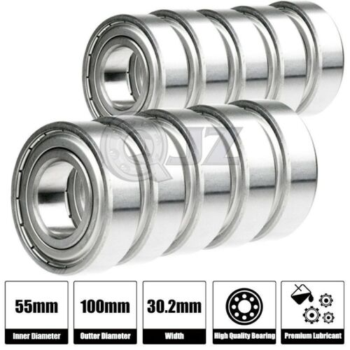 10x 5211-ZZ 2Z Sealed Double Row Ball Bearing 55mm x 100mm x 33.3mm Metal