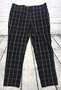 J-Jill-Womens-Skinny-Leg-Pixie-Pants-Checks-Sz-8-Black-Premium-Bistretch