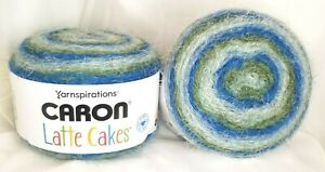 CARON-LATTE-CAKES-YARN-by-Yarnspirations-034-Mineral-Vineyard-034-NEW-Lot-of-2