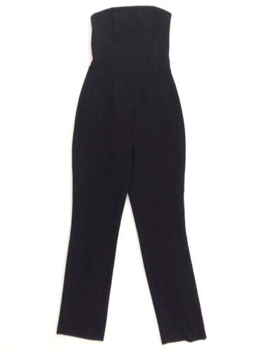 Wool S Off Shoulder Sz Jumpsuit Woman's Black Gianni IwH8qxRT8