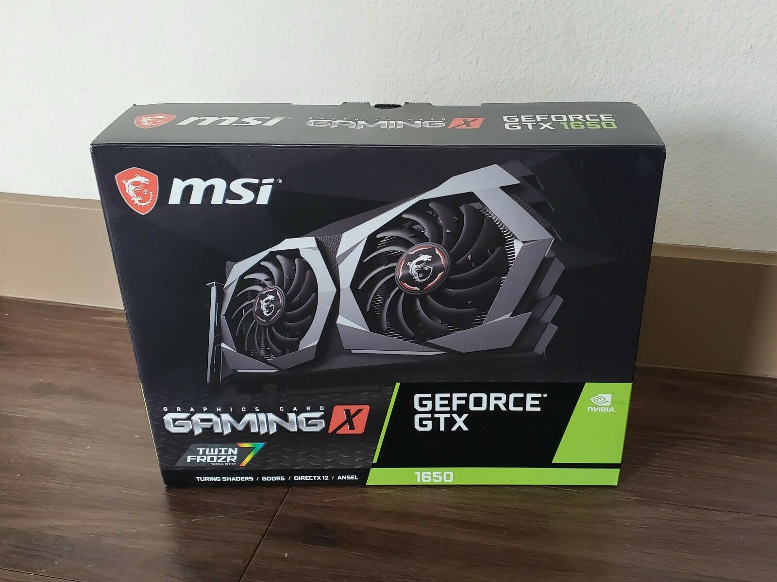 **BOX ONLY** MSI GeForce GTX 1650 Gaming X Dual Fan Graphics Card 4GB *BOX ONLY*