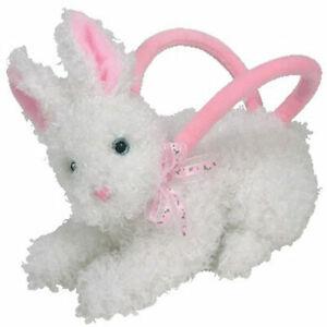 TY Beanie Baby - HUTCH CLUTCH the Bunny Purse (6.5 inch) - MWMTs Stuffed Animal