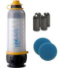 Lifesaver Bottle 4000UF + Carbon Inserts 4pk + Pre-Filter Scavenging Sponge 2pk