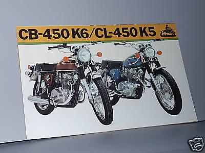 1973 honda cb450 k6 cl450 k5 motorcycle sales brochure. Black Bedroom Furniture Sets. Home Design Ideas