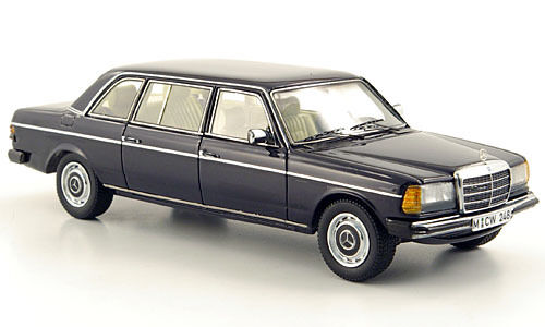 Wonderful modelcar MERCEDES 240D (V123) LWB 1979 - darkblu - 1 43 - ltd.ed.300
