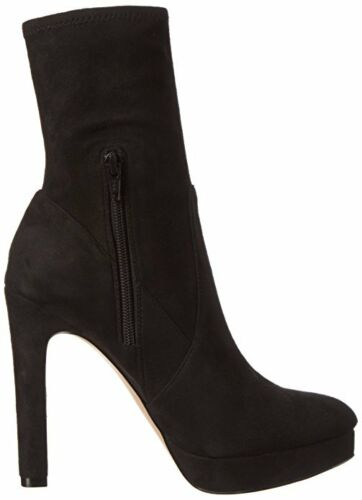 ALDO DRUWEN BLACK FAUX SUEDE HIGH HEEL ANKLE BOOTS SIZE UK 7 OR 8 40 OR 41 BNWB
