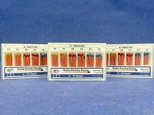 Dental Gutta Percha 180 Points 3 Box Assorted F1 F2 F3 X Prototype Color Coded